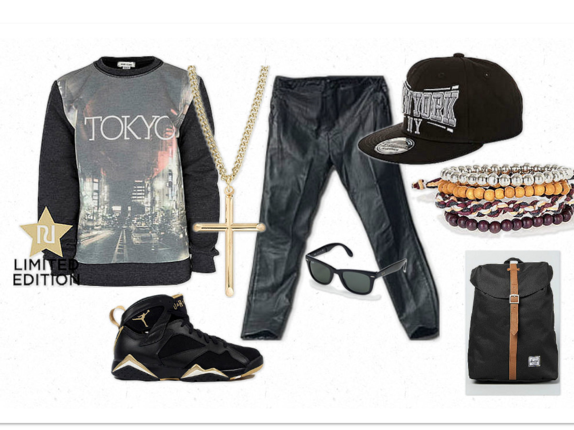 black male teens with clothes swag